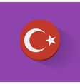 Round icon with flag of Turkey vector image vector image