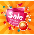Sale banner Advertising flyer for commerce vector image vector image
