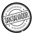 San Salvador stamp vector image