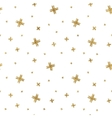 Seamless pattern of gold glitter crosses vector image