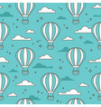 seamless pattern with air balloons vector image