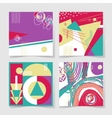 set 4 posters with abstract trendy pattern vector image