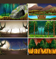 set different nature scene vector image