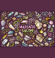 set of massage and spa objects vector image
