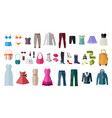 set of womens clothing and accessories vector image