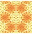 Shiny Gold Light Snowflakes Pattern for vector image vector image