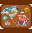 south carolina rhode island travel stickers vector image vector image