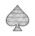 spades wooden symbol sketch vector image