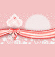 template gift voucher with a satin ribbon and lace vector image