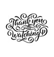 thank you for watching cover banner template for vector image vector image