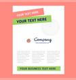 tomato title page design for company profile vector image vector image