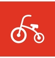 Tricycle icon design Bike bicycle Tricycle vector image vector image