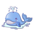 water bath whale icon cartoon style vector image