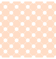 White Polka dot Chess Board Grid Orange vector image vector image