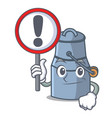 with sign milk can character cartoon vector image vector image