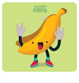 Yellow Banana Character Isolated vector image vector image
