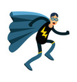 young masked man in a superhero costume and blue vector image vector image