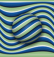 striped ball rolling along the striped surface vector image