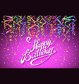 concept party on pink background top view happy vector image