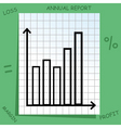 graph with mathematics icons vector image