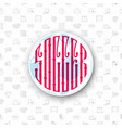 a set of soccer icons and lettering in a football vector image vector image