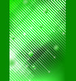 abstract geometric shapes on green background vector image vector image