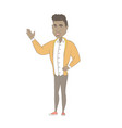 african man pointing at something by his hand vector image vector image