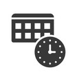 appointment time and calendar icon pixel perfect vector image