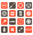 automobile parts related icons vector image vector image