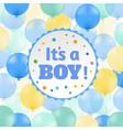 baby boy postcard vector image vector image