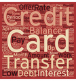 Balance Transfer Credit Cards A Way To Consolidate vector image vector image