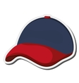 baseball hat icon vector image vector image
