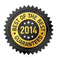 Best of the Best 2014 label vector image