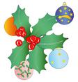 Christmas garland and Christmas balls vector image vector image