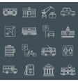 City infrastructure icons outline vector image vector image