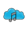 cloud note music symbol sound volume art vector image vector image
