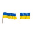colorful naturalistic waving flag ukraine vector image