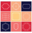 Contour label 9 elements vector image vector image