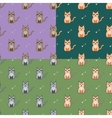 Cute cartoon cats set vector image