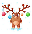 cute crazy cute derr happy new vector image