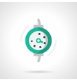 Dial gauge flat color design icon vector image vector image