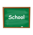 empty blank school green chalkboard isolated vector image vector image