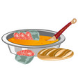 fish soup on white background is insulated vector image vector image