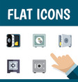 flat icon safe set of safe banking coins and vector image vector image