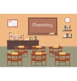 flat of chemistry lassroom vector image vector image