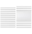 Folded blank white paper