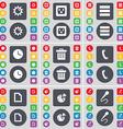 Gear Socket Apps Clock Trash can Receiver File vector image vector image