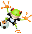 Goalkeeper frog vector image