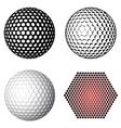 Golf ball symbols vector image