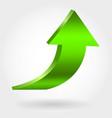 green arrow pointing upwards vector image vector image